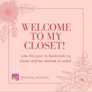 Bookmark my closet for sale alerts!